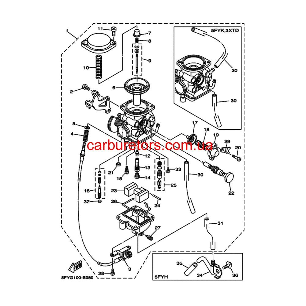 Winderosa  plete Gasket Kit For Yamaha 808851 moreover plete Gasket Kit With Oil Seals For Yamaha Yfz450 2004 2013 450cc further Zenith Carburetors Diagrams moreover 1969 Ss338 Parts furthermore Mikuni atv. on yamaha atv carburetor kits