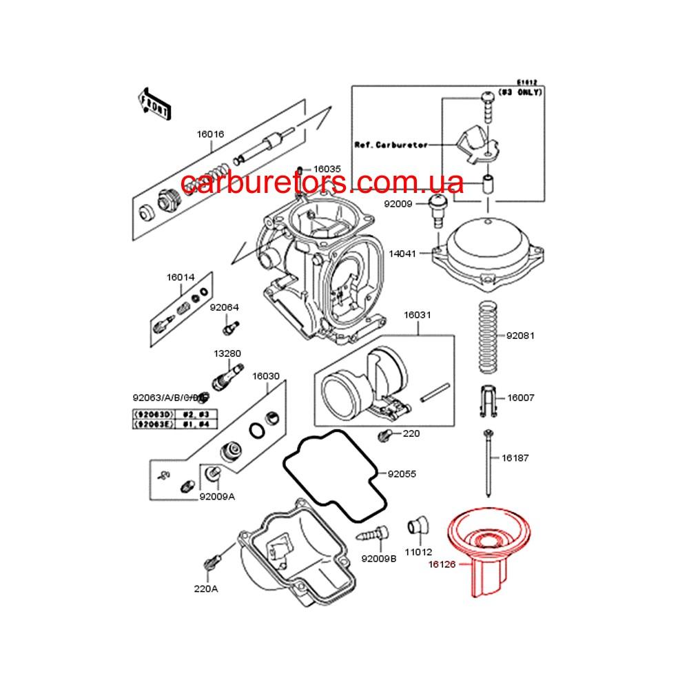 keihin cvk 32 carburetor valve  main membrane  vacuum